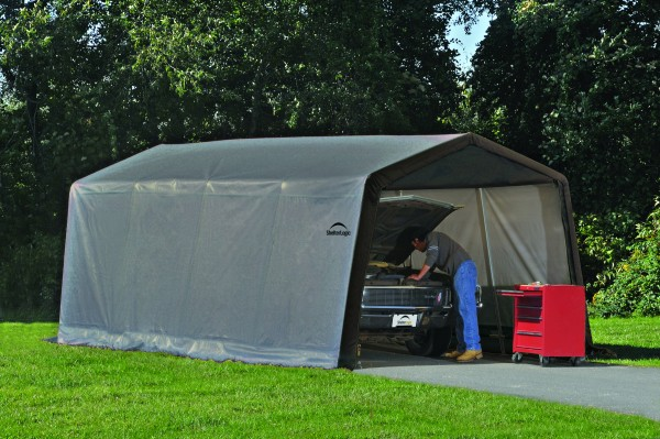 ShelterLogic Folien Garage 300x610 grau